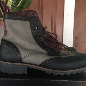 TED BAKER Stenli oxford combat-style boots
